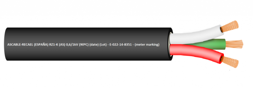 Cable RZ1-K 0,6/1kV Image